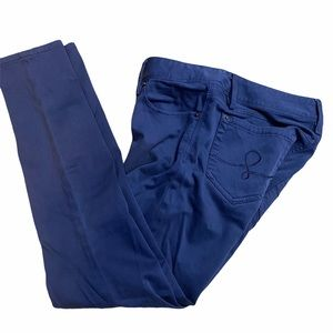 Lily Pulitzer Navy Blue Worth Skinny Mini Pants